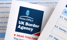UK Border Agency form