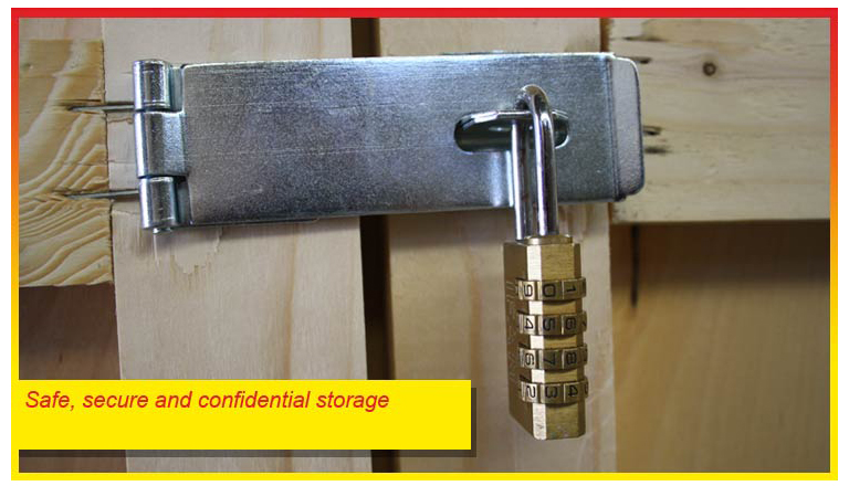 Safe secure and confidential storage